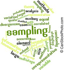 Sampling - Abstract word cloud for Sampling with related...