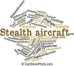 Stealth aircraft - Abstract word cloud for Stealth aircraft...