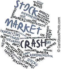 Word cloud for Stock market crash - Abstract word cloud for...