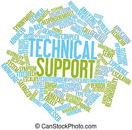 Word cloud for Technical support - Abstract word cloud for...