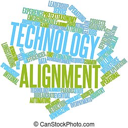 Word cloud for Technology alignment - Abstract word cloud...