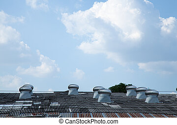 Cooling system Installed on the roof of the factory