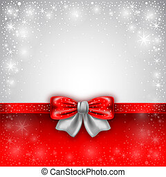 Greeting card - Festive background with red bows and copy...