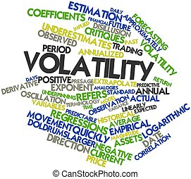 Volatility - Abstract word cloud for Volatility with related...