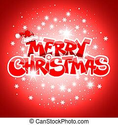 Feliz, Natal, cartão