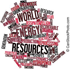 World energy resources - Abstract word cloud for World...