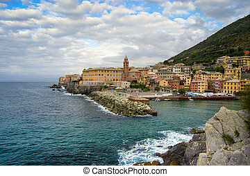 Genova Nervi - beautiful small town with a small harbor near...