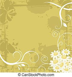 Chamomile Background - Grunge chamomile background with...