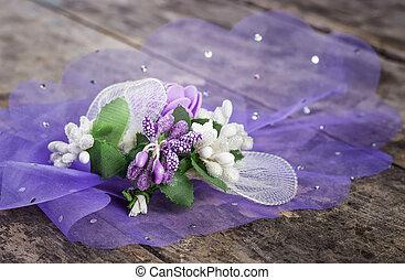 Ślub, kwiat, stół