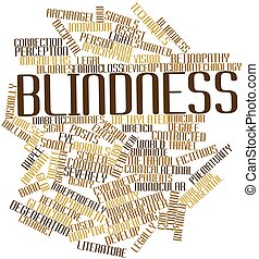 Blindness - Abstract word cloud for Blindness with related...