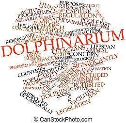 Dolphinarium - Abstract word cloud for Dolphinarium with...