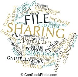 Word cloud for File sharing - Abstract word cloud for File...