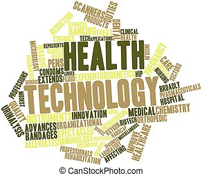 Health technology - Abstract word cloud for Health...