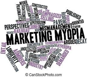 Marketing myopia - Abstract word cloud for Marketing myopia...