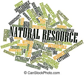 Natural resource - Abstract word cloud for Natural resource...