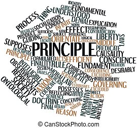 Principle - Abstract word cloud for Principle with related...