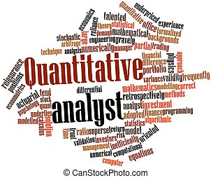 Quantitative analyst - Abstract word cloud for Quantitative...