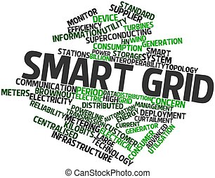 Smart grid - Abstract word cloud for Smart grid with related...