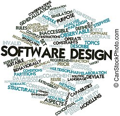 Software design - Abstract word cloud for Software design...