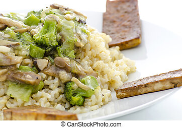 Macrobiotic meal - A closeup of macrobiotic dinner made of...