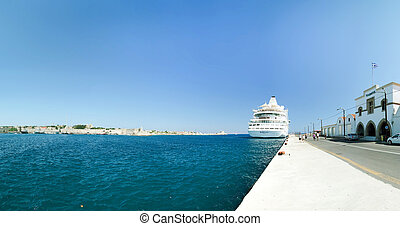Cruise ship in Rhodes