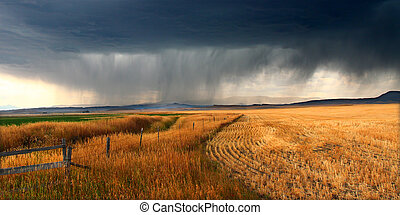 Rural Montana Storm Clouds - Dark storm clouds thunder...