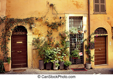 Old italian street - Picture of beautiful old italian street