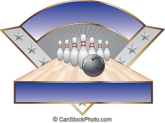 Bowling Design Template Triangle - Illustration of a bowling...