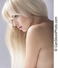 Portrait of a beauty blonde - Portrait of a calm beauty...