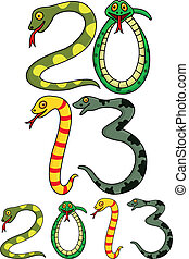 Year of snake - Vector illustration of year of snake cartoon
