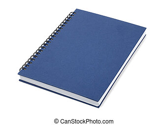 Blue Closed Book - Blue book isolated over white background