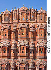 Hawa Mahal is a palace in Jaipur, India