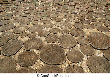 Image of crosscut wood, can be used as background