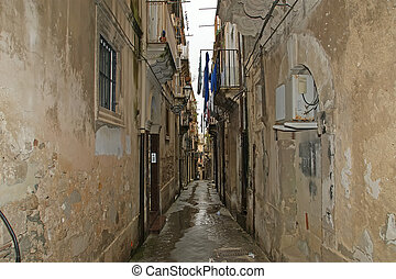 Ancient streets of Syracuse (Siracusa, Sarausa)-- historic...