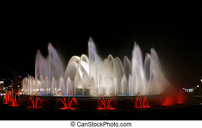 The Magic Fountain, Montjuic, Barcelona, Spain.