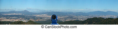 panoramic view of Barcelona from the Tibidabo hill - A...