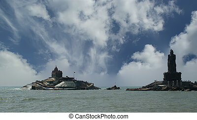 southernmost point of India Comorin or Kanyakumari,...
