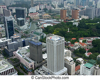 Indonesia, Singapore, kind on a business part of a city