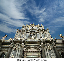 The Cathedral of Catania, entitled to St. Agatha, is a...