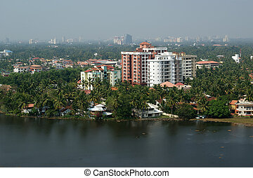 General view of the city, Cochin (kochi), Kerala, South...