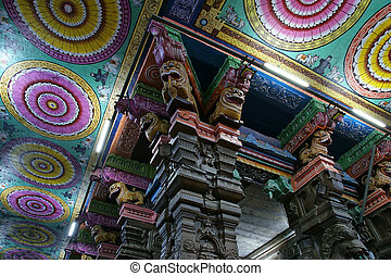Ceiling Meenakshi Sundareswarar Temple in Madurai, South...