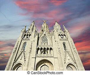 Tibidabo temple, Barcelona, Spain