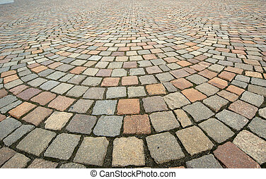 Background in the form of paving bricks (pavers) gray...