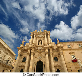 CATHEDRAL OF SYRACUSE Siracusa, Sarausa-- historic city in...