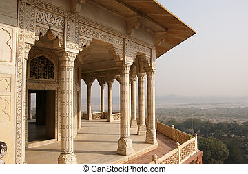 India, Agra, Red fort UNESCO World Heritage - India, Agra,...