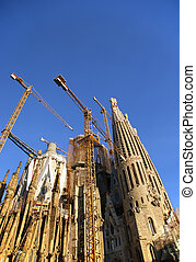 Sagrada Familia by Antoni Gaudi in Barcelona Spain