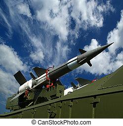moderno, ruso, Antiaéreo, misiles, 5V27DE, contra,...