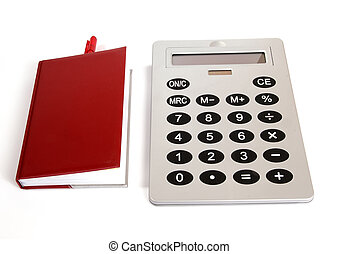 Great calculator and red notebook for reference daily notes...