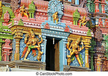 Traditional statues of gods and goddesses in the Hindu...