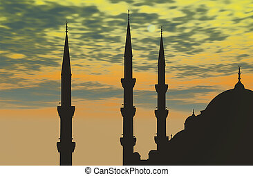 Turkey, Istanbul, Blue Mosque (Sultan Ahmed Mosque) - The...